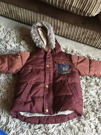 Burgundy boys coat 1.5-2 years