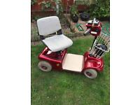 Mobility scooter red