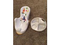 Bath seat and top & tail bowl