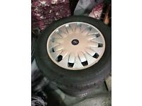 "Ford Transit wheels 16"" 5x108. WITH BRAND NEW TYRES"