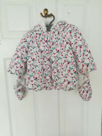 3-6 months girl george jacket with gloves for autumn/winter