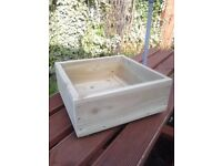 FLOWER PLANTERS,WOODEN SQUARE GARDEN PLANTERS, MANY SIZES/COLOURS,QUALITY HANDMADE,PLANTS,BOXES