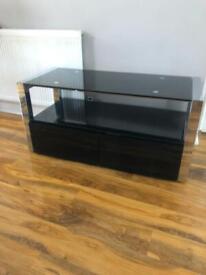 Black Tempered Glass Tv Cabinet