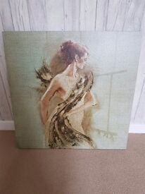 TWO BEAUTIFUL CANVASES, LIKE NEW