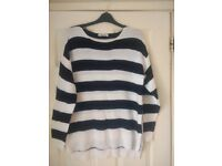 New Ladies Womens Warm Long Oversized Jumper size 12/14/M