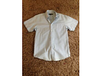 "**BRAND NEW NEVER BEEN WORN** Mens Large 17"" neck short sleeve light blue Ben Sherman shirt"
