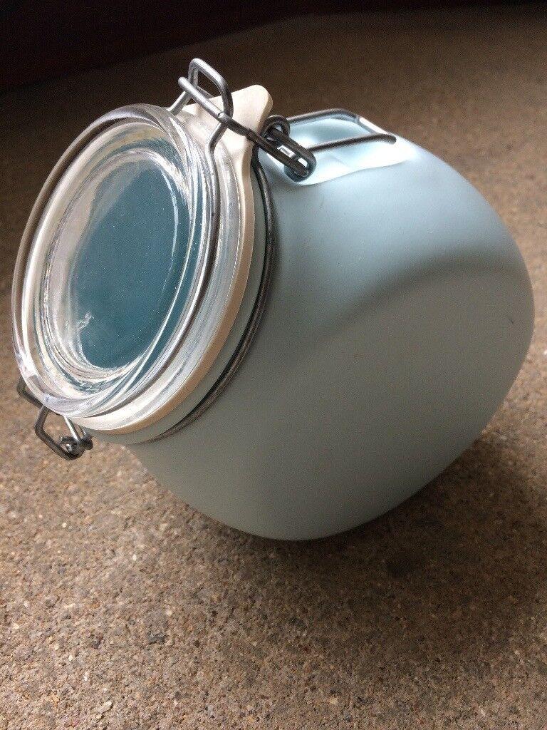 Nigella Lawson Kitchen Storage Jars in duck egg blue