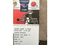 NFL MINNESOTA VIKINGs vs CLEVELAND BROWNS- Face value X3