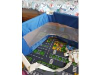 Blue childrens bed guard