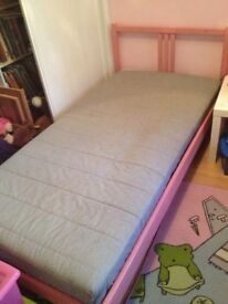 IKEA single bed with mattresses