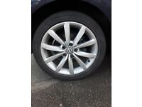 Vw golf mk7 2014 alloys with tyres + alloy wheels