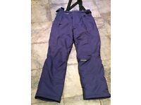 Women's navy blue ski salopettes size L