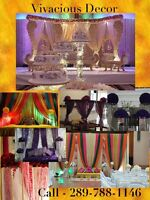 Vivacious wedding decor