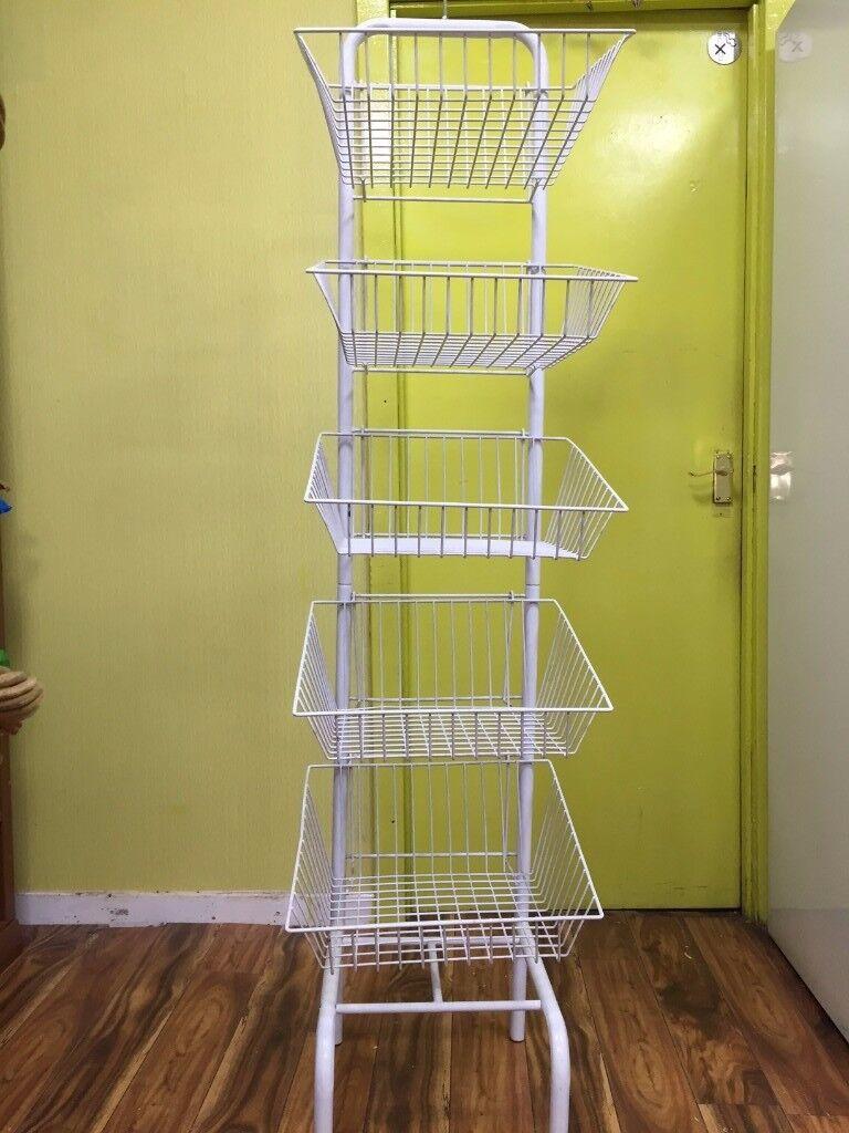metal stand basket