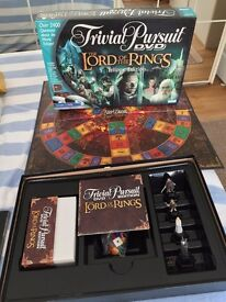 Trivial Pursuit Lord Of The Rings DVD Board Game