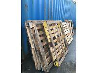 Used UK Wooden standard PALLETS 120 x 100cm Bulk sale