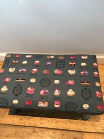 Upcycled Antique Comfie Macaroon Adjustable Footstool
