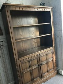 Ercol real wood bookcase/cabinet