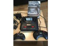 Sega megadrive 2 with all official wires and controllers and sonic
