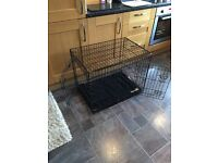 Dog cage with removable washable mat. Mint condition only used once