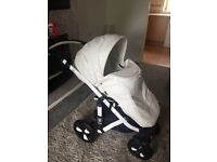 Limited edition white leather pram excellent condition