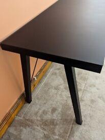 Black tempered glass desk