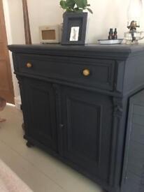 Pre loved, old, vintage Hungarian dresser/side board in excellent vintage condition..