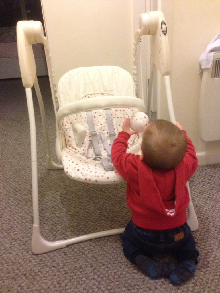 Baby swing+ FREE steriliser+6bottles