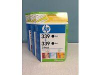 3 HP 339 black inkjet print cartridges (2-packs)