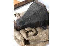 Vintage Victorian cast iron hopper/plant holder