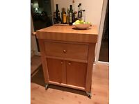 Butcher's block/kitchen storage - very good condition, solid and sturdy