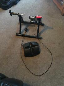Elite turbo trainer and wheel stand
