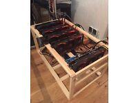 ETH custom rig 5x RX580 8GB Strix 125/133MH/s Dual Mining ZCash Ethereum 920W