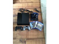 PlayStation 4 1TB - Sony USB 2.0 Stereo Headphones - 20th Anniversary Controller - 4 PS4 Games