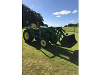 John Deere 4400 compact tractor c/w loader