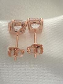 Swarovski earrings sterling silver 925 in silver or rose gold brand new Hallmarked