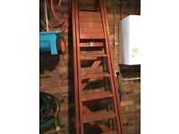 Solid wood quality ladders as new