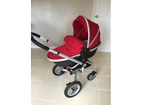 Silver cross surf 2 complete travel system in red