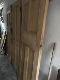 3 x solid pine doors