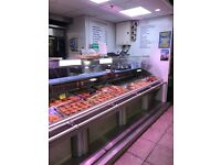 Server over stainless steel Refridgerated display counter