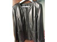 Leather jacket brand new black