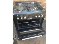 Black gas cooker 60cm..mint free delivery
