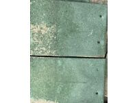 Green roof tiles - used, in fair condition