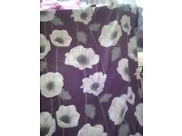 Purple flower curtains