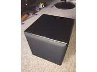 "10"" Active Sub woofer speaker internal amp with gain and frequency cutoff controls"