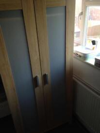 Ikea oak effect wardrobe& 3chest of drawers