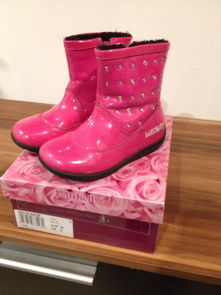 Lelli Kelly Pink Girls Boots Size 9 Toddler | in Inverness ...