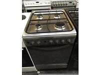 INDESIT free standing full gas cooker 50 cm width stainless steel fully working order