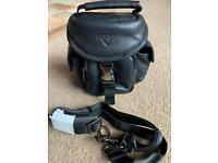 Leather antler device bag