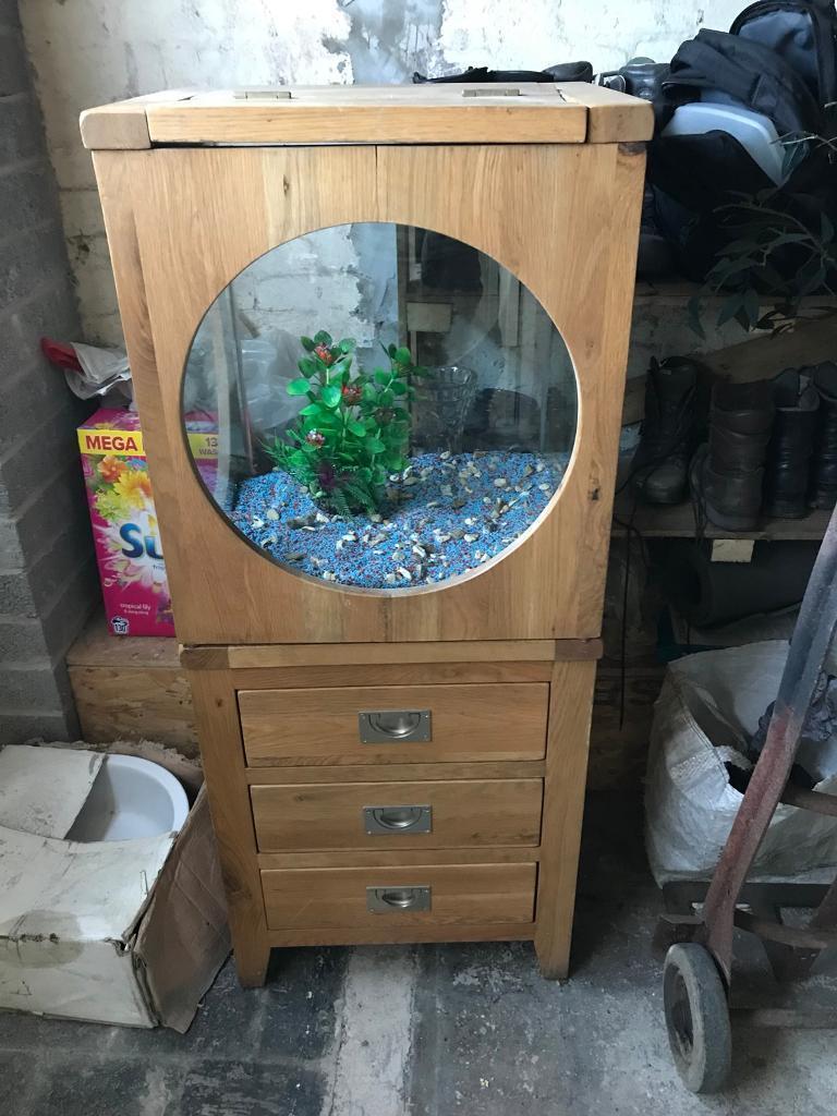 furniture fish tanks. Oak Fish Tank. Lovely Furniture. Needs Sleight Repair To Wood On Top. Furniture Tanks T